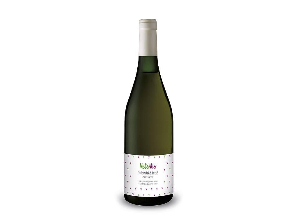 Jakostní odrůdové víno Rulandské šedé 2018