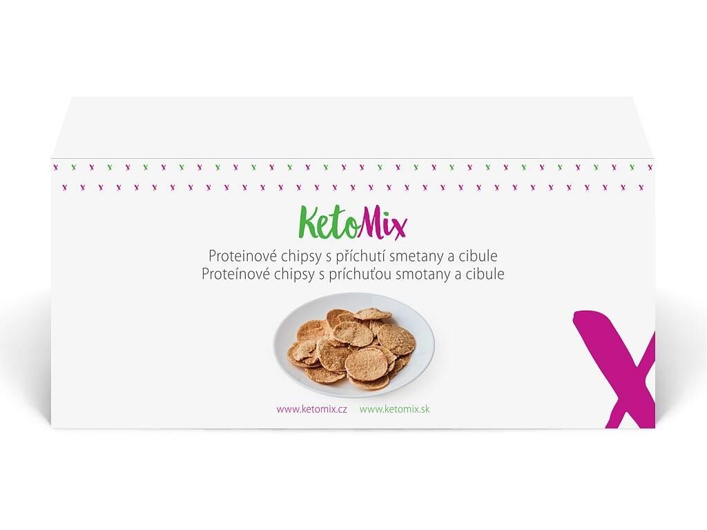 KetoMix Proteínové chipsy s príchuťou cibulky (4 porcie) 120 g