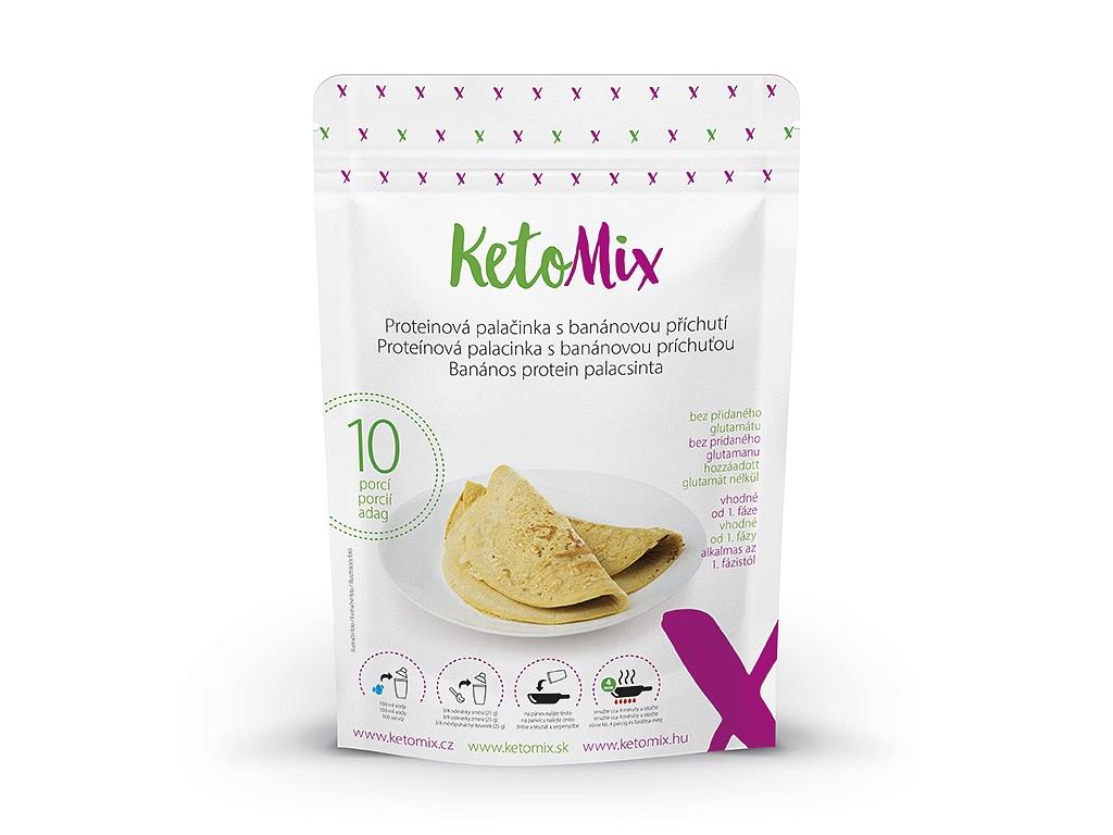 KetoMix Proteínová palacinka s banánovou príchuťou (10 porcií)