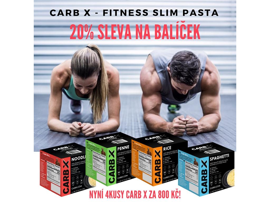 Carb X Výhodný balíček Slim Pasta Fitness (4 ks) 2 400 g