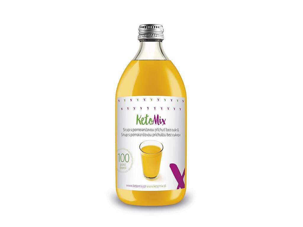 KetoMix Sirup s pomarančovou príchuťou bez cukru 500 ml