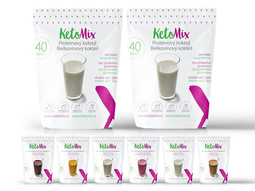 KetoMix Proteínový kokteil na 2 týždne + 2 dni ZADARMO 2 400 g