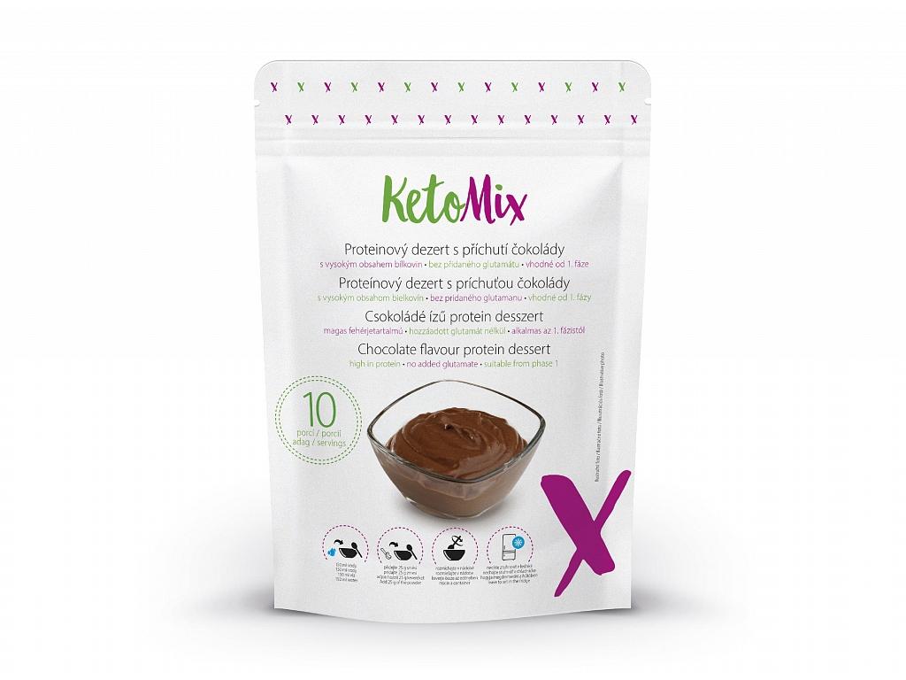 KetoMix Proteínový dezert s príchuťou čokolády