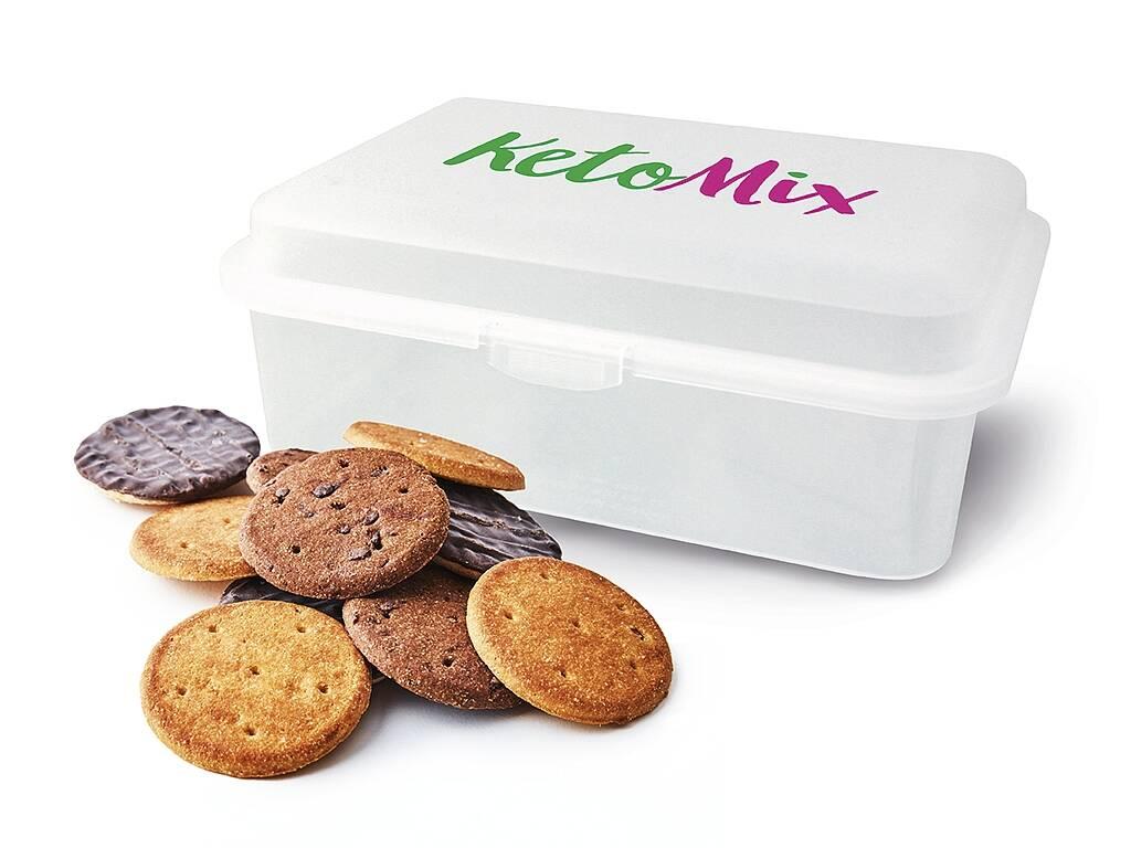 KetoMix Proteínové sušienky + plastová krabička ZADARMO