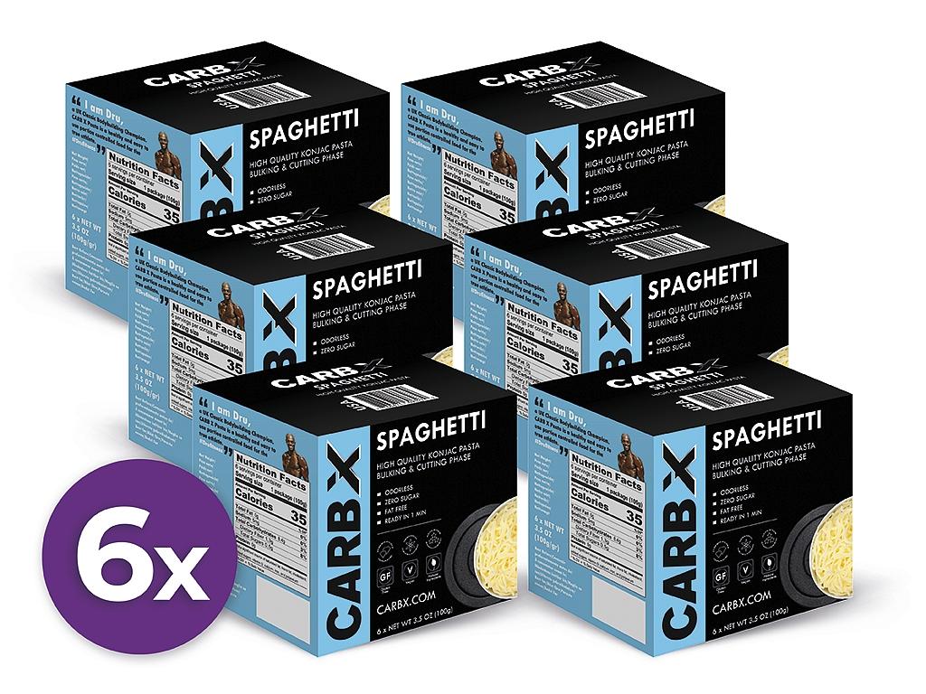 Výhodný balíček fitness špagiet Slim Pasta Carb X 5+1 zadarmo