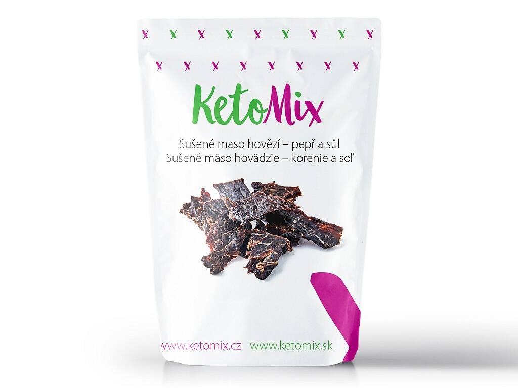 KetoMix Sušené mäso hovädzie – korenie a soľ (1 porcia) 30 g